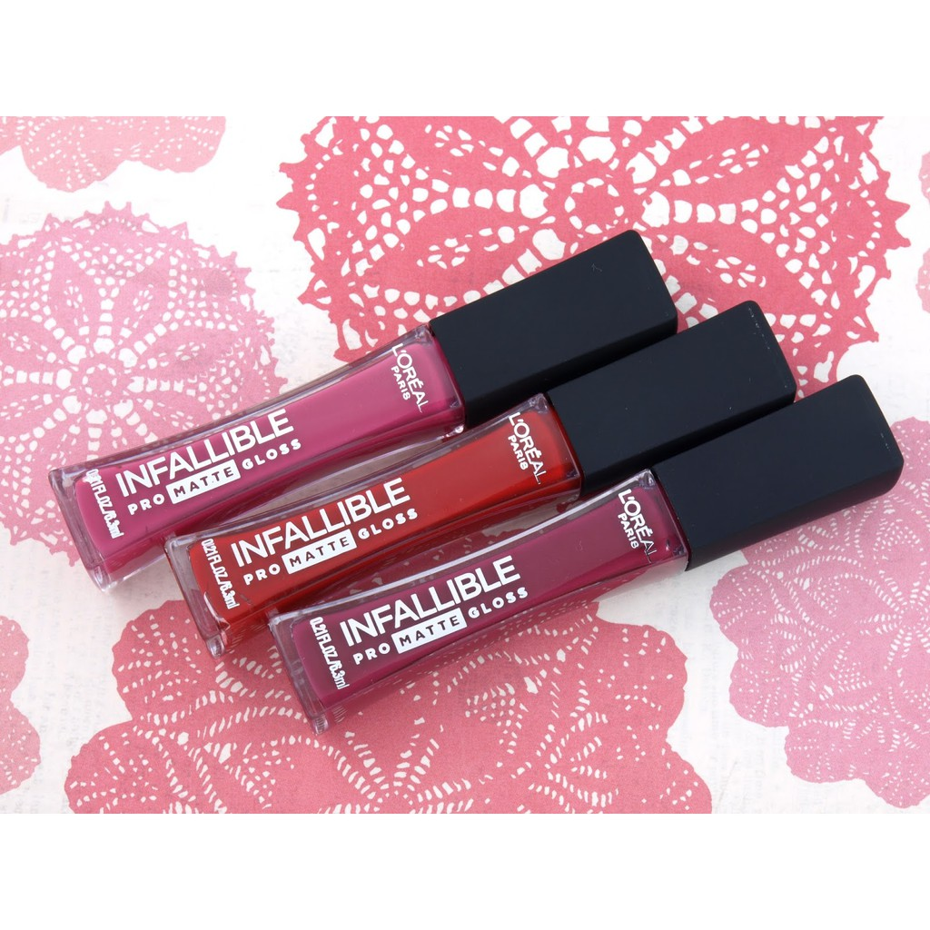 Son kem lì Loreal Infallible Pro Matte Gloss Liquid Lip (Nhập khẩu) - 3517257 , 1142916759 , 322_1142916759 , 258000 , Son-kem-li-Loreal-Infallible-Pro-Matte-Gloss-Liquid-Lip-Nhap-khau-322_1142916759 , shopee.vn , Son kem lì Loreal Infallible Pro Matte Gloss Liquid Lip (Nhập khẩu)
