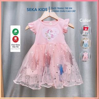 Váy đầm bé gái đẹp váy cho bé gái công chúa Elsa Pony váy xòe cho bé gái in họa tiết 3D - SEKA 2104.04 CS123