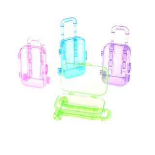 Random Color Plastic Travel Train Suitcase Luggage For Doll