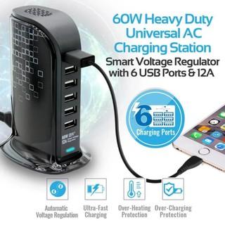 Ổ Sạc Promate PowerBase-2 6 Cổng USB 60W thumbnail