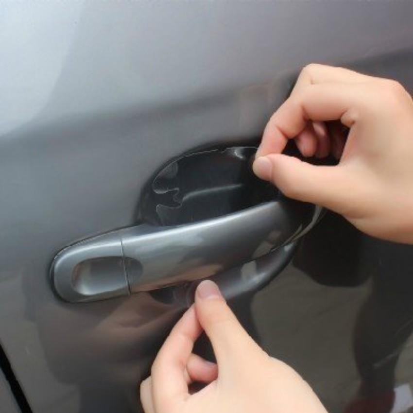 Bộ 4 miếng dán chống xước tay cửa xe ô tô TI 239