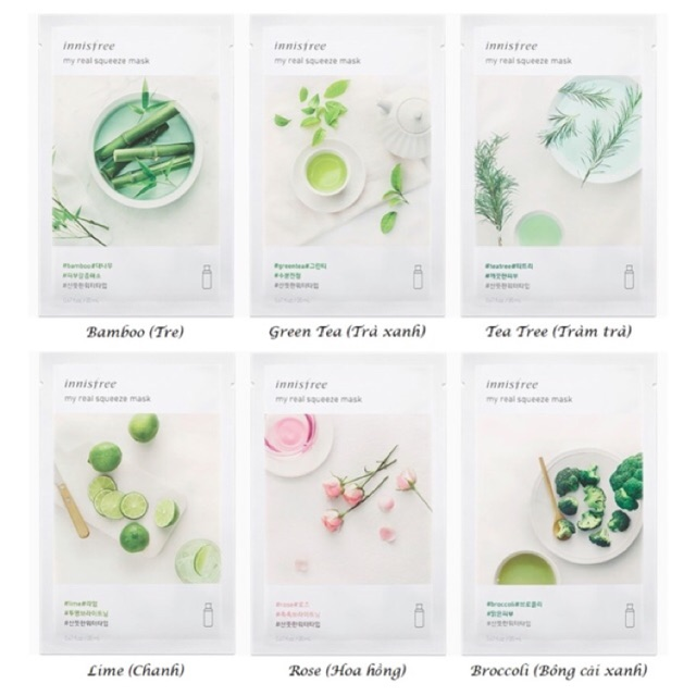 [CÓ BILL] Mặt nạ giấy Innisfree My Real Squeeze Mask New 2017 - 3366444 , 1143336534 , 322_1143336534 , 20000 , CO-BILL-Mat-na-giay-Innisfree-My-Real-Squeeze-Mask-New-2017-322_1143336534 , shopee.vn , [CÓ BILL] Mặt nạ giấy Innisfree My Real Squeeze Mask New 2017