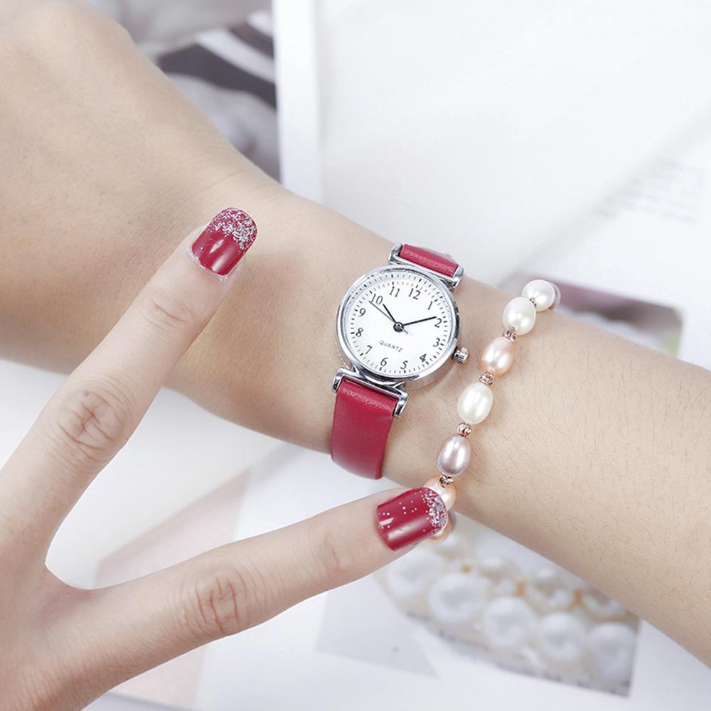 Đồng hồ đeo tay dây da bản nhỏ phong cách Hàn Quốc thời trang cho nữ