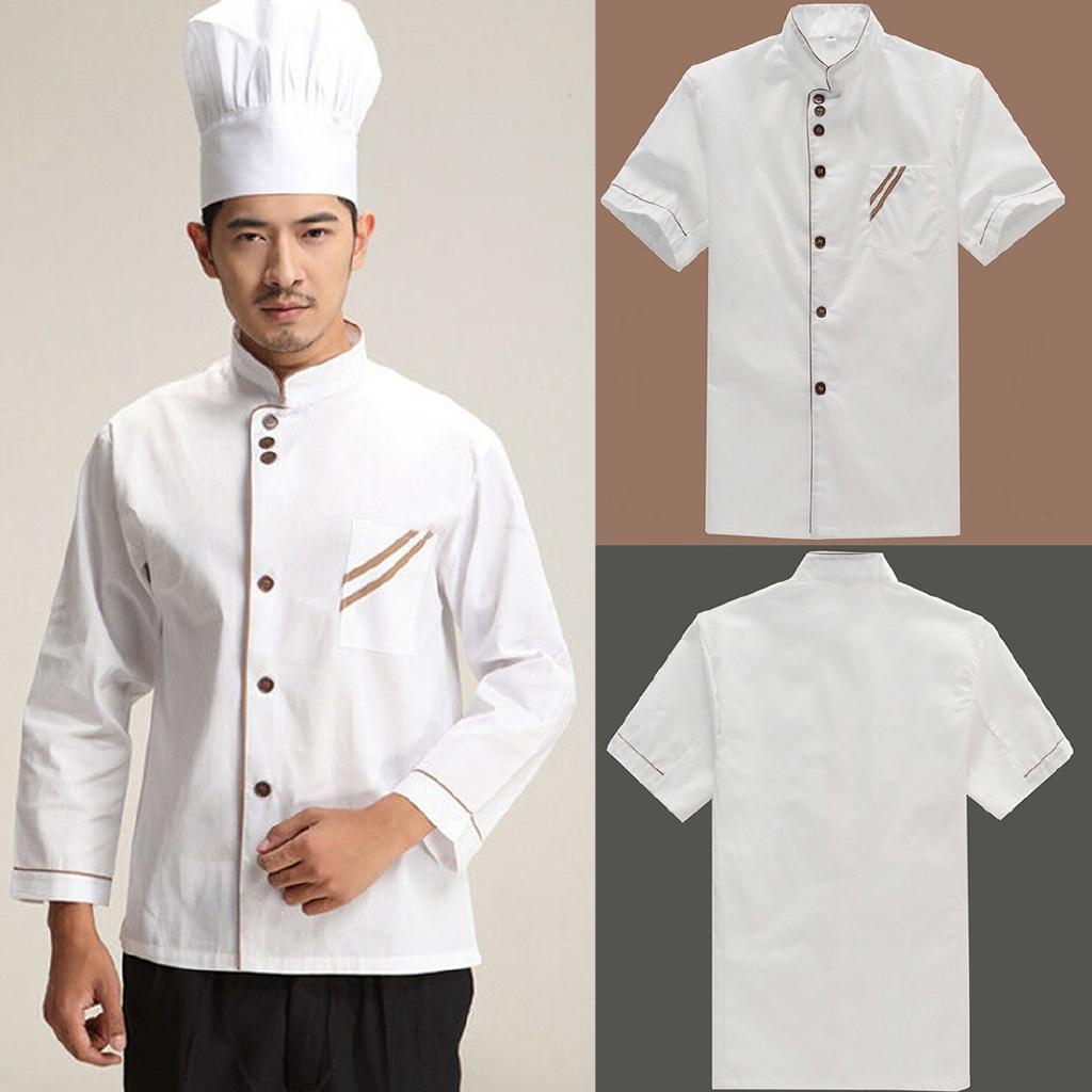 Áo đồng phục đầu bếp siêu nhẹ thoáng khí màu trắng