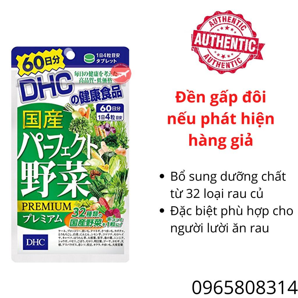 Viên Uống Rau Củ DHC Perfect Vegetable Premium Nhật Bản