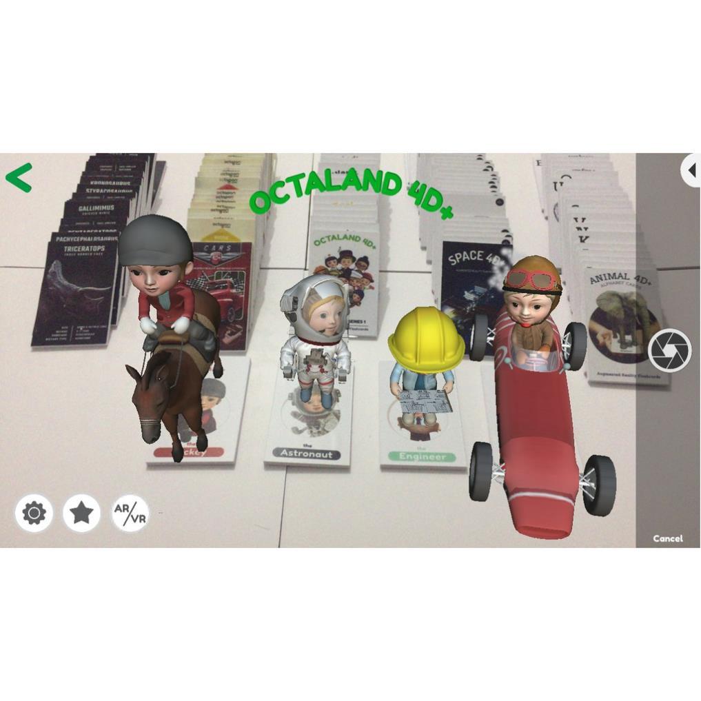 kem123 Thẻ học cho bé💚FREESHIP💚Combo 5 bộ thẻ 4D ANIMAL, DINOSAUR, SPACE, OTALAND và CARS 4D