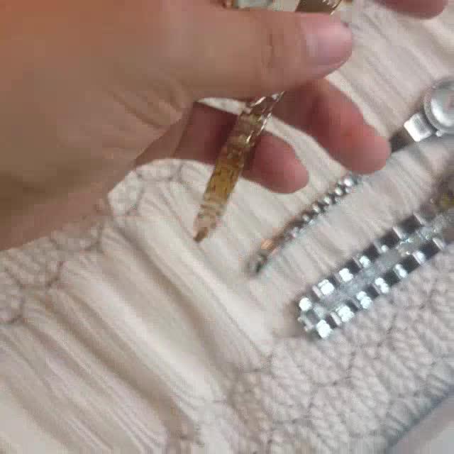 Đồng Hồ Nữ Bee Sister 1351 Viền Đá Chính Hãng (Có clip+ ảnh thật)