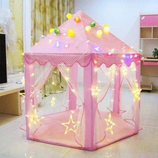 Six Angle Castle Gauze Tent Playhouses Girl Children Large Indoor Outdoor