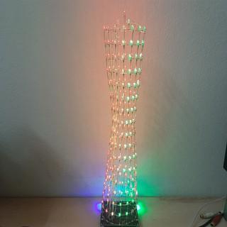 Bộ mạch tự ráp đèn led cube nháy theo nhạc rgb full color