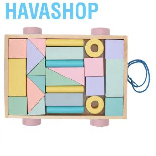 Havashop Intelligent Woyisisi DIY baby toy educational wooden with car shape storage box