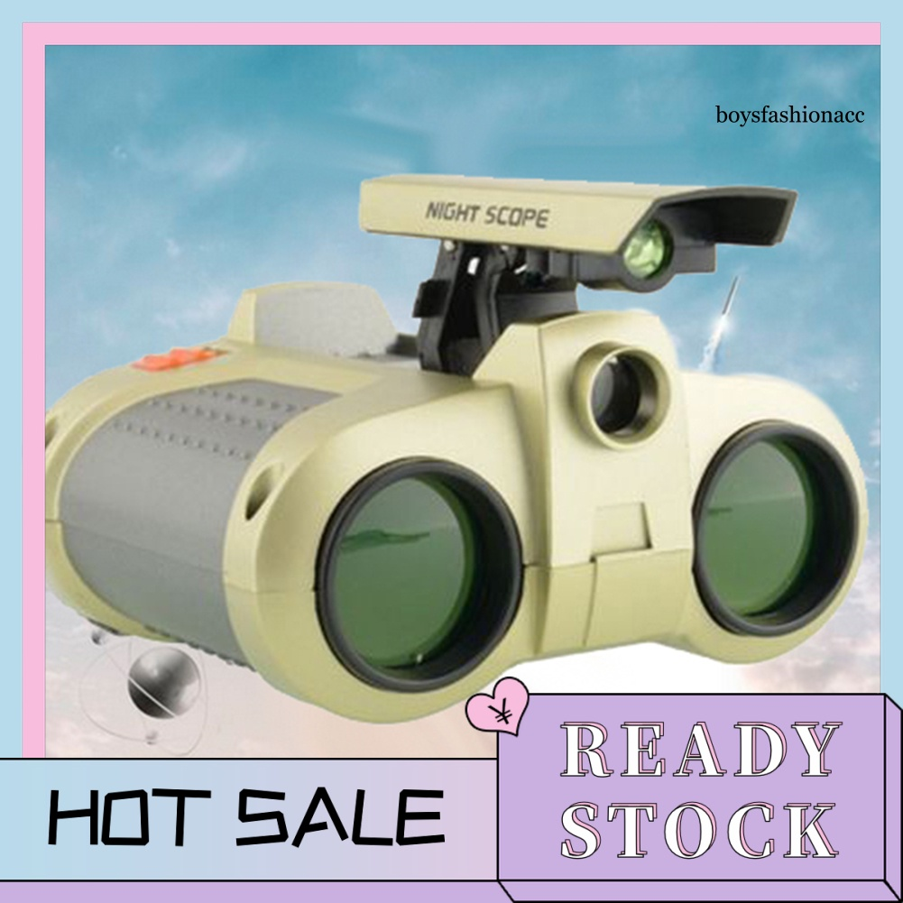 【Ready Stock】BBC–4x30mm Foldable Night Vision Kids Binoculars Telescope Children Education Toy