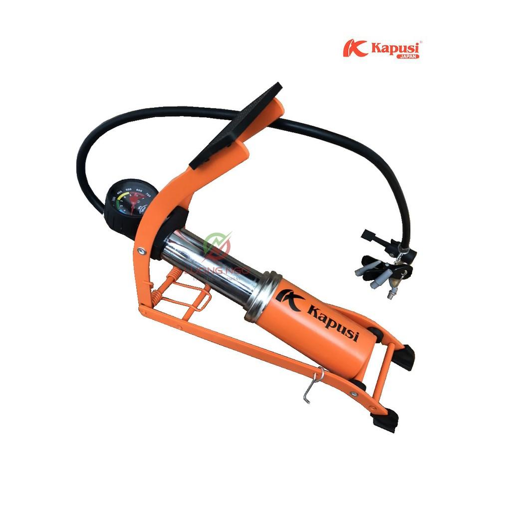 Bơm đạp chân đa năng - Bơm xe máy,xe đạp  KAPUSI công nghệ nhật bản
