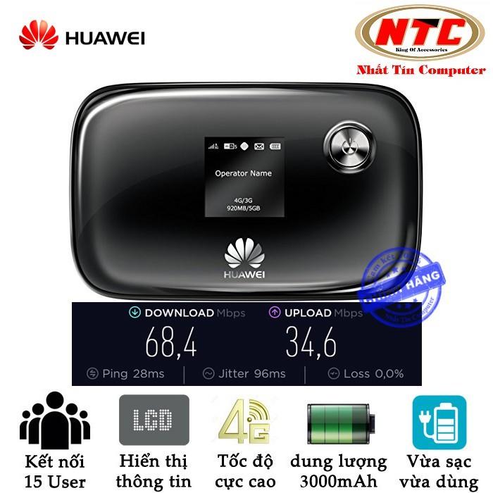 Phát wifi cao cấp từ sim 4G Huawei E5776s-32 tốc độ cực mạnh - có màn hình LCD (đen)