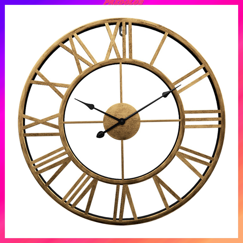 Đồng hồ treo tường máy thạch anh thiết kế chạy êm không kêu tích tắc dùng cho gia đình/văn phòng/trường học