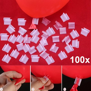 100pcs Latex Balloon PVC Clips Balloons Sealing Clamps Balls Accessories Clip Ballon Buttons Party Supplies