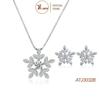 Bộ trang sức bạc Hình hoa tuyết trắng thời trang sành điệu dành cho các nàng xinh đẹp ANTA Jewelry -ATJ3032B thumbnail