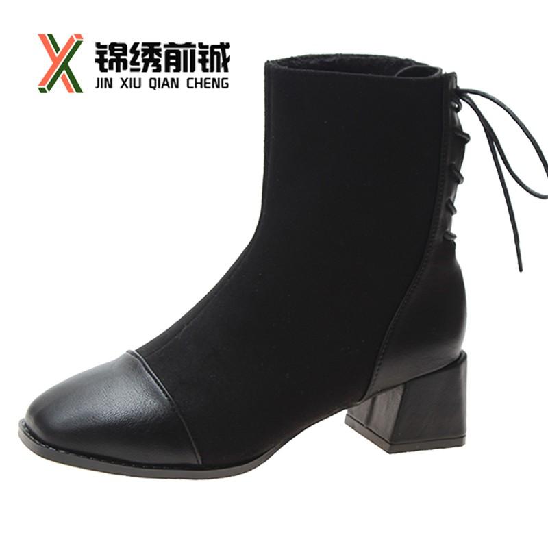Giày Bốt Nữ Cổ Cao Thời Trang Hàn 2018