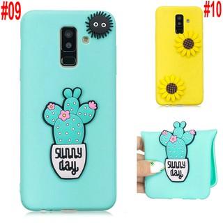 Samsung Galaxy A6 A8 plus 2018 A3 A5 A7 2015 2016 2017 Note 3 4 5 8 9 3D Sunflower Cute Soft Silicon Phone Case Cover