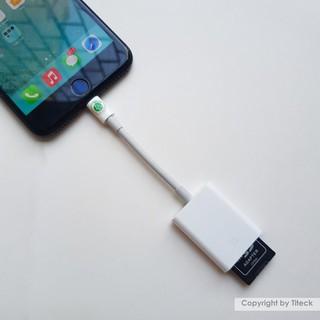 [Mã ELFLASH5 giảm 20K đơn 50K] Đầu đọc thẻ nhớ SD dùng cho iPhone, iPad tiện lợi khi sử dụng máy ảnh