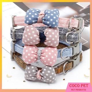 Vòng Cổ Chó Mèo Đính Nơ Vải Siêu Dễ Thương thumbnail