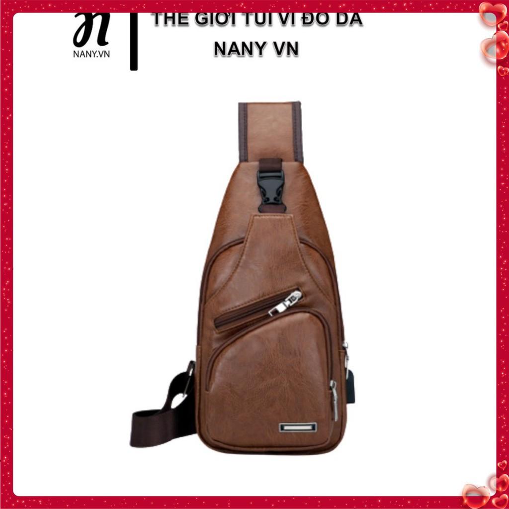Túi Da Đeo Chéo Cao Cấp, Thiết kế Năng Động, Chống Nước P068 – Kèm quà tặng cao cấp