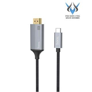 Cáp chuyển đổi TypeC sang HDMI Hoco UA13 vỏ hợp kim nhôm, hỗ trợ 4K, dài 1.8M (Xám) - Phụ Kiện 1986