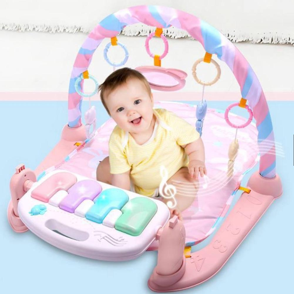 Funny Interactive Bodybuilding Activity Baby Toy Educational Safe Lighting Newborn Music Play Gym Pedal Piano
