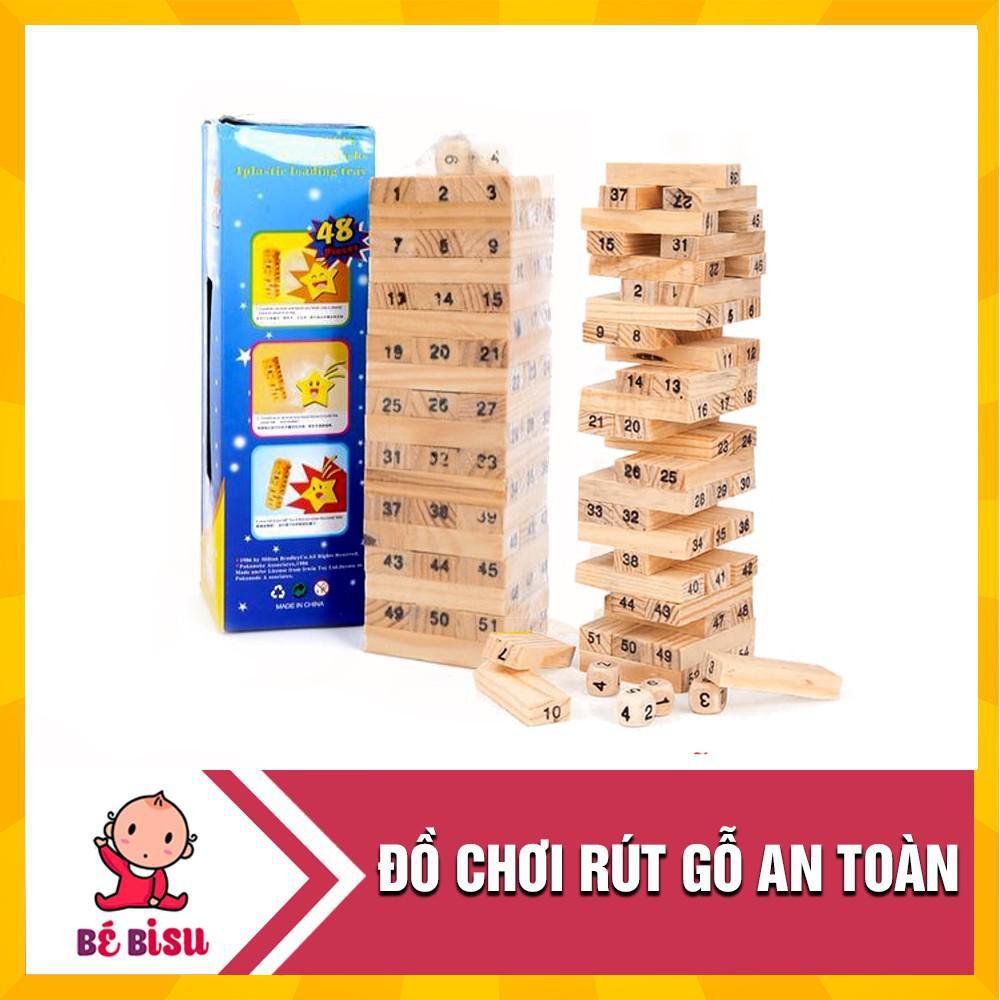Đồ chơi rút gỗ Wish Toy cho bé 54 thanh_Hàng tốt