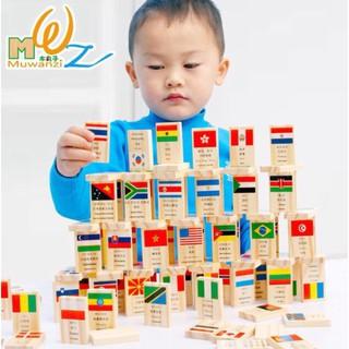 Đồ Chơi Gỗ 100 cờ quốc gia – Đồ chơi gỗ thông minh