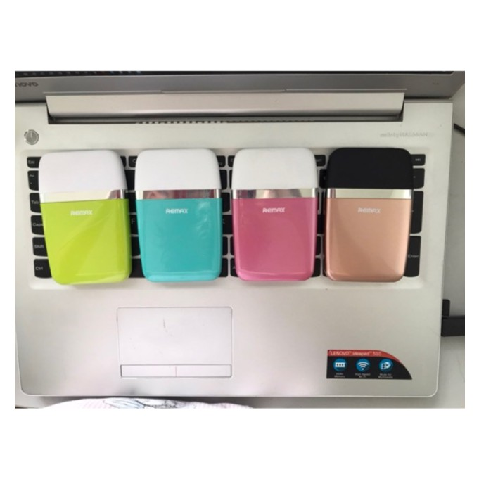 Pin dự phòng tự ngắt kiểm soát nhiệt độ pin Remax (Aroma RPP-16, 6.000 mah, trắng hồng/ xanh lá/ vàng kim/ trắng xanh)