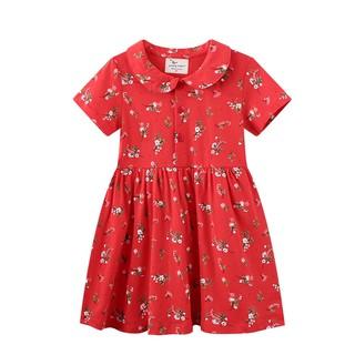 Váy đỏ bé gái chính hãng jumping meters mẫu mới 2021