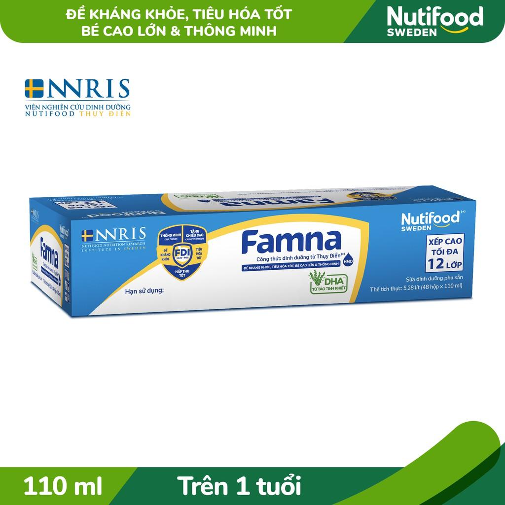 Thùng 48 Hộp Sữa Bột Pha Sẵn Famna 110ml/hộp