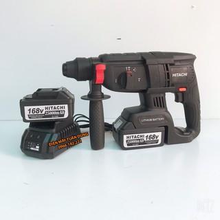 Máy khoan bê tông cầm tay pin Hitachi 168V Động cơ không chổi than KÈM 2 PIN Dụng cụ cần thiết cho thợ điều hòa cơ khí