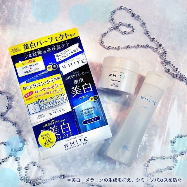 (Sét 2 món)Bộ gồm nước hoa hồng và kem dưỡng dạng gel dưỡng trắng da Kose White Moisture Mild Nhật B - 3491148 , 1279374464 , 322_1279374464 , 320000 , Set-2-monBo-gom-nuoc-hoa-hong-va-kem-duong-dang-gel-duong-trang-da-Kose-White-Moisture-Mild-Nhat-B-322_1279374464 , shopee.vn , (Sét 2 món)Bộ gồm nước hoa hồng và kem dưỡng dạng gel dưỡng trắng da Kose