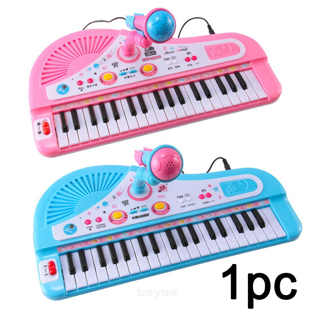 37 Keys Kids Keyboard Electronic Piano Baby Toys Playing Educational Fingers Boys Girls Music With Microphone