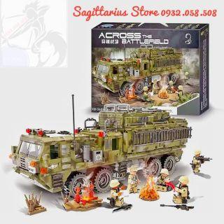 Lego XingBao-06014 Lắp Ráp Xe Tank Vận Tải Hạng Nặng – The Scorpion Heavy Truck ( 1377 Mảnh – Hàng có sẵn tại shop )
