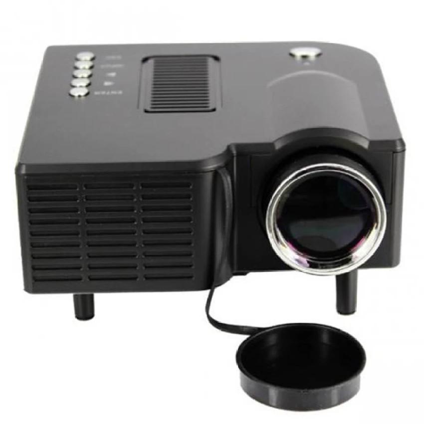 Máy chiếu mini Projector LED UC28 plus màu Đen