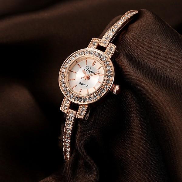Đồng hồ nữ siêu sang trọng Hàn Quốc LVPAI LV08 thiết kế đính đá tinh tế, thanh lịch