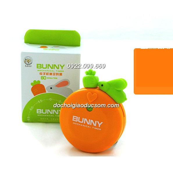 Đồng hồ đếm ngược Bunny - Thỏ ăn cà rốt - giúp bé yêu học quản lý thời gian