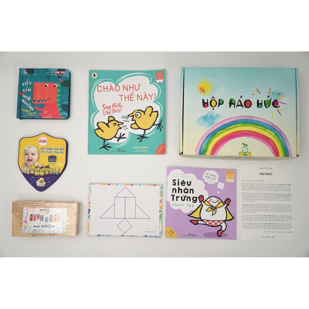 HỘP HÁO HỨC TƯỞNG TƯỢNG, 0-3 tuổi Combo 3 cuốn sách phát triển tư duy, set trò chơi trương tác HÌNH KHỐI VUI NHỘN T1020