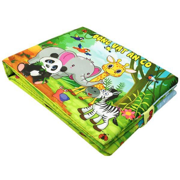 sách vải cho bé - ĐỒ CHƠI SẠCH - Sách vải Động Vật Ăn Cỏ