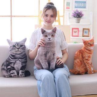 Thú Nhồi Bông Hình Chó Mèo 3d Sáng Tạo Làm Quà Sinh Nhật Cho Bé