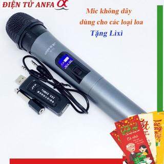 Mic Không dây V12 dành cho Loa Bluetooth Karaoke - Loa Kéo Mini, dàn karaoke ampli tại nhà