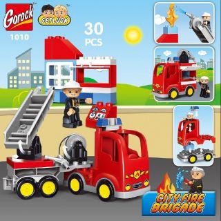 Gorock - Bộ lego lắp ráp thành phố cứu hỏa tương thích lego duplo thumbnail