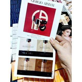 Sample Kem nền Giorgio Armani Power Fabric [ 4 sample 1ml ] thumbnail