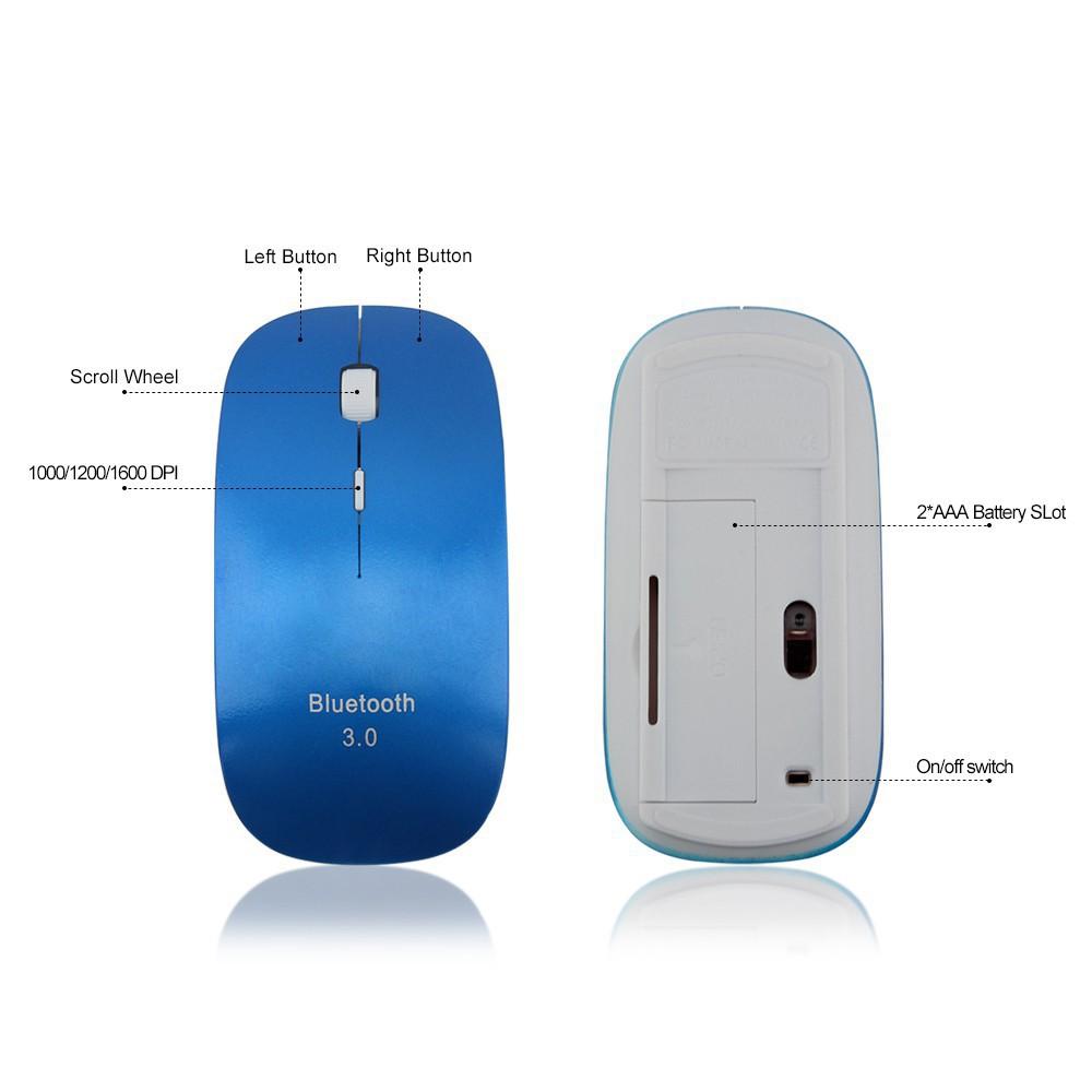 Chuột Chơi Game Không Dây Siêu Mỏng Kết Nối Bluetooth Cho Pc Và Laptop