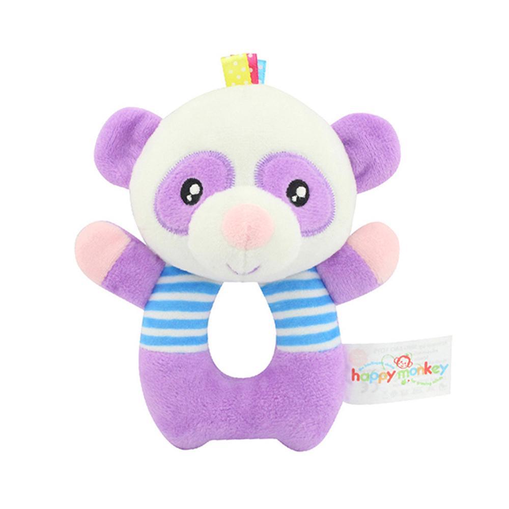 Kids Animal Handbell Toy Cartoon Panda O-shape Doll Bed Bells Wrist Rattle
