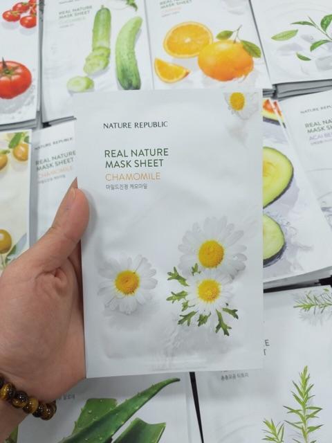[Mẫu Mới] Lẻ miếng Mặt nạ NATURE Republic Real Nature Mask Sheet 23ml