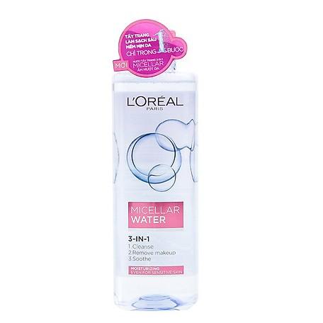 Nước Tẩy Trang Dưỡng Ẩm L'Oreal Paris Micellar Water nắp hồng dưỡng da ẩm mượt (400ml)