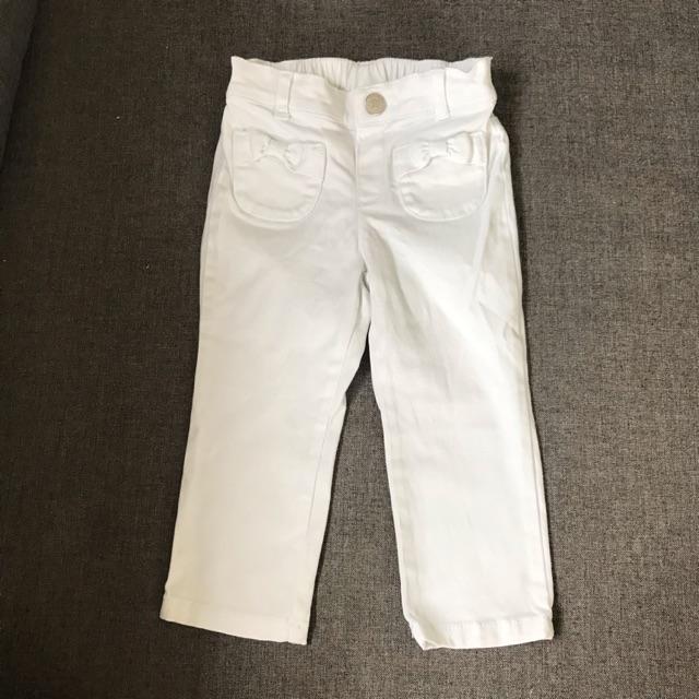 กางเกงยีนส์สีขาว Gymboree ไซส์ 12-18M